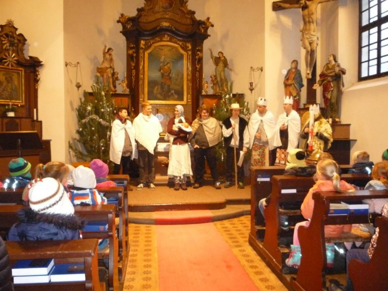 Tradiční setkání na Tři Krále v kostele