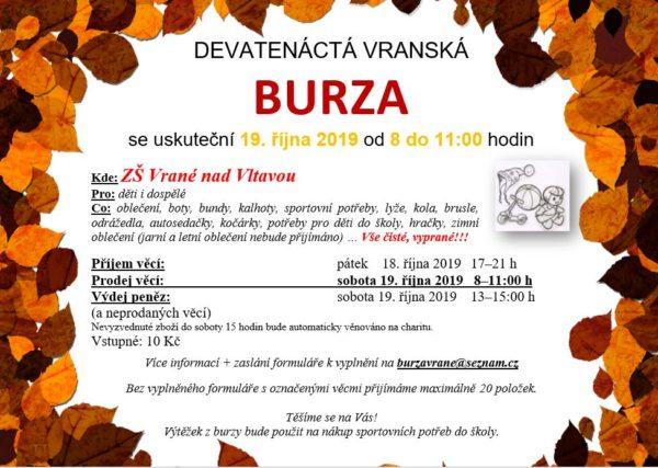 Burza – 19. 10. 2019