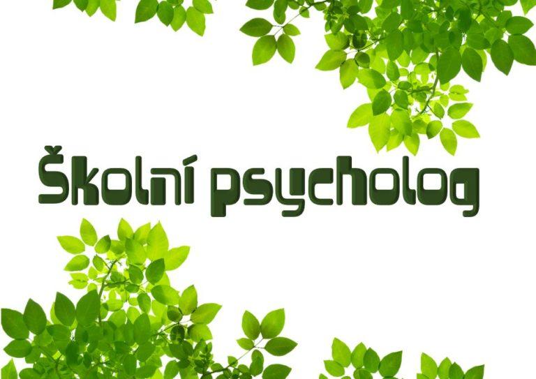 Školní psycholog od 1. 12. 2019