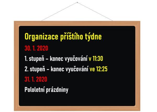 Organizace příštího týdne