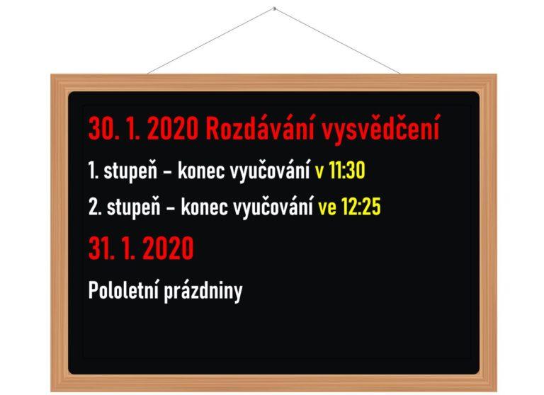 Organizace týdne od 27. 1. – 31. 1. 2020