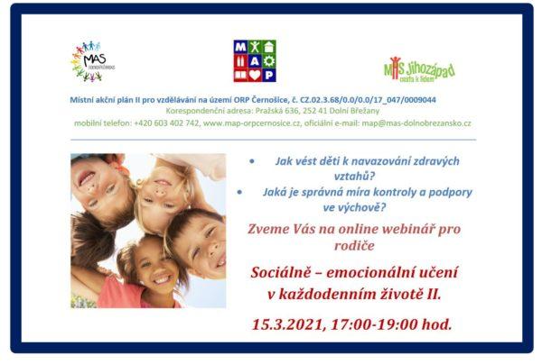 Pozvánka na online webinář 15. 3. 2021