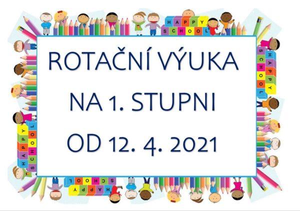 Pokyn ředitelky školy týkající se rotační výuky na 1. stupni od 12. 4. 2021