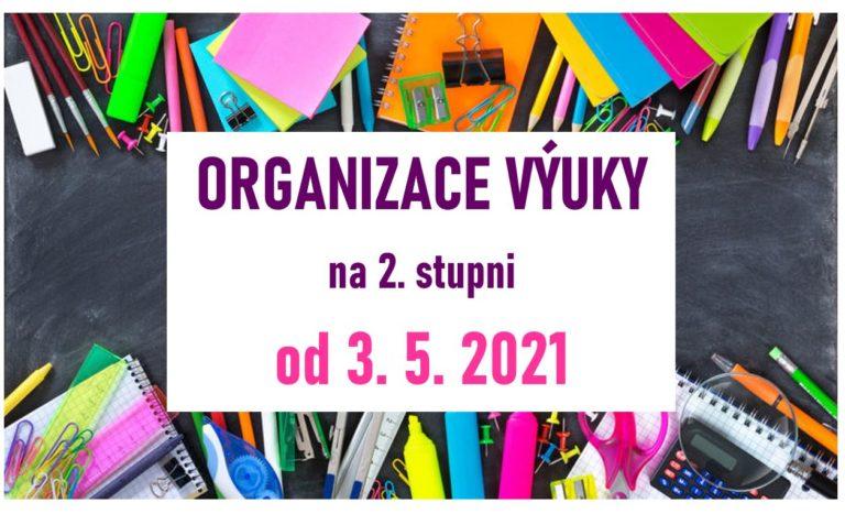 Organizace výuky na 2. stupni od 3. 5. 2021