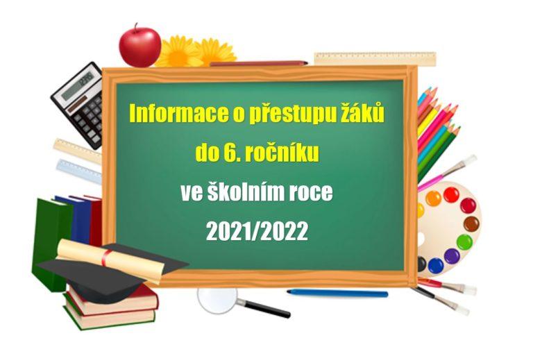Výsledek losování uchazečů o přestup do 6. ročníku od školního roku 2021/2022